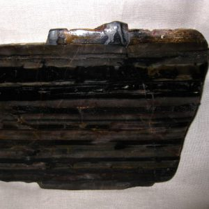 Precambrian Age Fossil Manganese Rich Banded Iron Stromatolite from Taylor Michigan