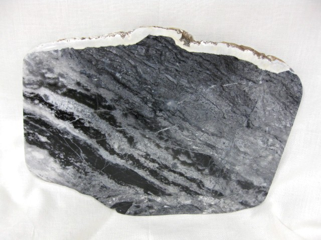 Fossil Precambrian Stromatolite Interbedded With Hydrocarbonate Layers from Ontario Canada