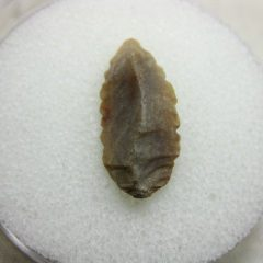 Genuine Prehistoric Mesolithic Age Serrated Arrowhead from North Africa