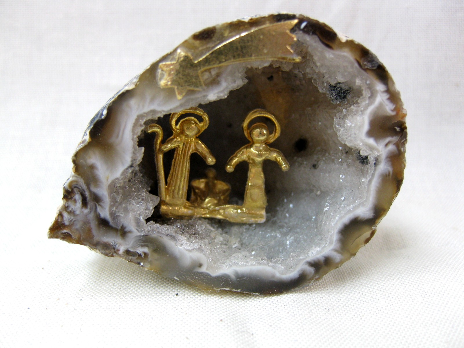 Small Nativity Geode from Brazil