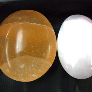 Orange & White Selenite Ovals